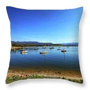 Indian Peaks Marina Pano Throw Pillow