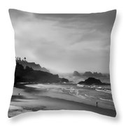 Indian Point Beach - Oregon Coast Throw Pillow
