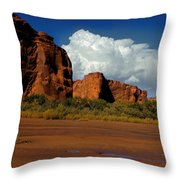 Indian Ponies In The Canyon Throw Pillow