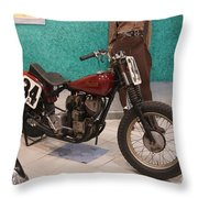 Indian Racing Motorcycle 34 Throw Pillow