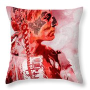 Indian Red Throw Pillow