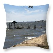 Indian River Lagoon At Indialantic Florida Throw Pillow