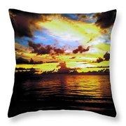 Indian Rocks Sunset Throw Pillow
