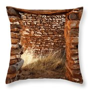 Indian Ruins Doorway Throw Pillow