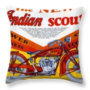 Indian Scout Throw Pillow