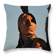 Indian Statue Throw Pillow