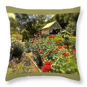 Indian Summer Garden Throw Pillow