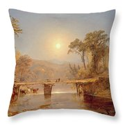 Indian Summer On The Delaware River Throw Pillow