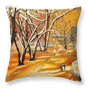 Indian Summer Wish Throw Pillow by Milagros Palmieri
