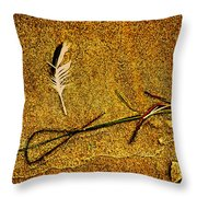 Indian Summer Zen Throw Pillow