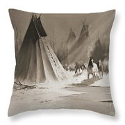 Indian Tee Pee Throw Pillow