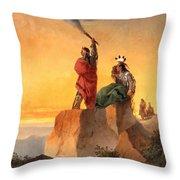 Indian Telegraph Throw Pillow by John Mix Stanley