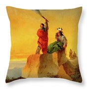 Indian Telegraph Throw Pillow