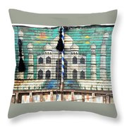 Indian Truck Art 3 - Taj Mahal Throw Pillow