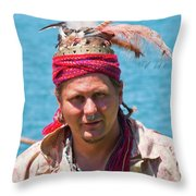Indian Vii  6681 Throw Pillow