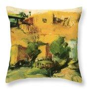 Indian Village 1917 Throw Pillow