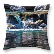 Indian Wells Waterfall Throw Pillow