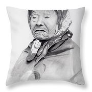 Indian Woman Throw Pillow