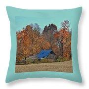 Indiana Barn Throw Pillow