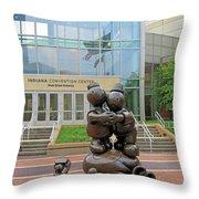 Indiana Convention Center Throw Pillow