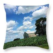 Indiana Farm Scene Throw Pillow