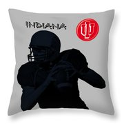 Indiana Football Throw Pillow