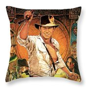 Indiana Jones Raiders Of The Lost Ark 1981 Throw Pillow