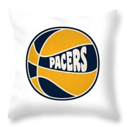 Indiana Pacers Retro Shirt Throw Pillow