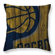 Indiana Pacers Wood Fence Throw Pillow