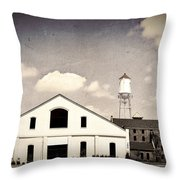 Indiana Warehouse Throw Pillow by Amber Flowers