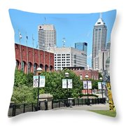 Indianapolis From The Park Throw Pillow