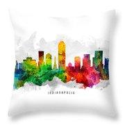Indianapolis Indiana Cityscape 12 Throw Pillow