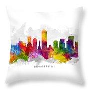 Indianapolis Indiana Cityscape 13 Throw Pillow