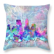 Indianapolis Skyline Watercolor 5 5 Throw Pillow