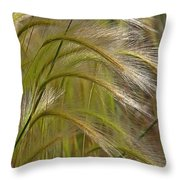 Indiangrass Swaying Softly With The Wind Throw Pillow