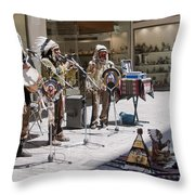 Indians In Greece Throw Pillow