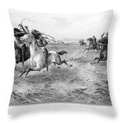 Indians/u.s. Military, 1876 Throw Pillow