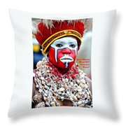 Indigenous Woman L A Throw Pillow