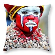 Indigenous Woman L B Throw Pillow