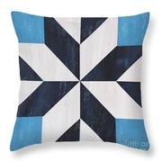 Indigo And Blue Quilt Throw Pillow