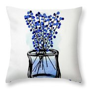 Indigo Falls Throw Pillow