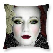 Indigo Heather Portrait  Throw Pillow by Jon Volden