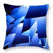 Indigo Lantern Throw Pillow