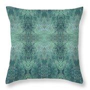 Indigo Lotus Lace Pattern 1 Throw Pillow