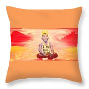 Indigo Melanin Throw Pillow