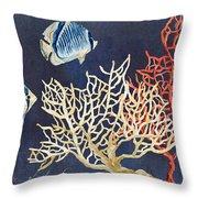 Indigo Ocean - Silence Of The Deep Throw Pillow