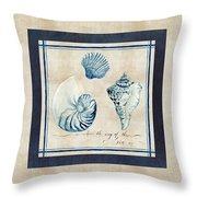 Indigo Ocean - Song Of The Sea Throw Pillow