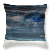 Indigo Winter Night Throw Pillow