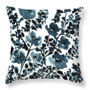 Indigo's Shadow Throw Pillow