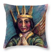 Indian Angel Throw Pillow